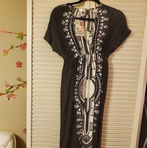 Empire waist boho maxi dress